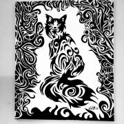 tableau animaux dessin cadeau peinture couleurs : Vanmeenen veronique