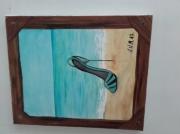 tableau autres vetement soulier peinture dessin tabl : soulier bleu