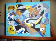 tableau marine cadeaux bateau couleurs voilture : pour mon père
