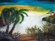 tableau paysages cadeau yoga detente couleurs : ZENITUDE