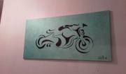 tableau moto couleurs voiture cadeaux : moto