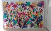tableau abstrait couleurs deco peinture cadeaux : paintball
