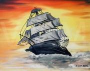 tableau marine peinture bateau cadeaux la mer : MON BATEAU
