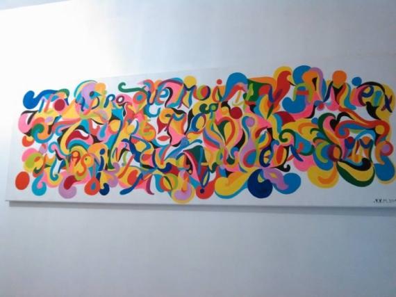 TABLEAU PEINTURE couleurs cadeaux peintures décoration Abstrait Peinture a l'huile  - COLLECTION MYSTÈRE