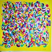 tableau abstrait dessin cadeau mystere citations couleurs : Collection mystère