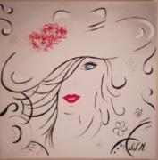 tableau personnages dessin cadeau peinture couleurs : Belle