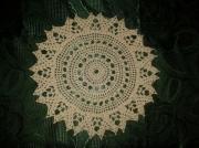 art textile mode napperon crochet ecru : Napperon fait main au crochet