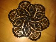 art textile mode napperon crochet noir : Napperon noir fait main au crochet