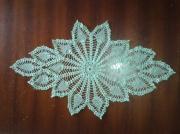 art textile mode napperon crochet turquoise : napperon turquoise