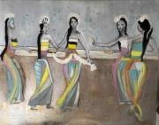 tableau danse bali jeune femme : Les Balinaises