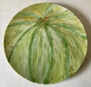 ceramique verre fruits melon vert jaune porcelaine assiette : le melon