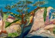 tableau paysages paysage sud moderne arbres : Le Sud en pente douce