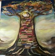 tableau paysages arbre nature foret paysage : L'arbre porteur de vie
