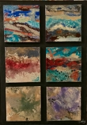 tableau abstrait abstrait horizon paysage reve : Horizons abstraits
