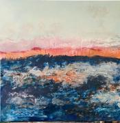 tableau abstrait abstrait aurore paysage mer : Reflet daurore