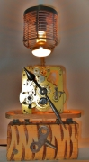 deco design autres deco luminaire recyclage recuperation : lampe pendule