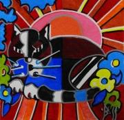 tableau animaux animaux chat pop art : CHAKVARDOR