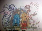 dessin personnages : Enfer et paradis