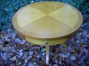 bois marqueterie autres table tiroir circulaire aerienne : Boût de canapé DOLKA