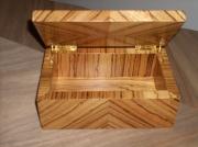 bois marqueterie autres coffret bijoux boite noble : Coffret ELFE Zebrano.