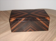 bois marqueterie autres boite coffret bijoux noble : Coffret ELFE Ebène de Macassar.