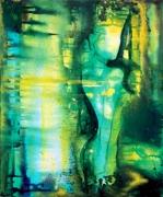 tableau abstrait asbtraction abstrait femme : La Femme couronnée