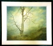 tableau paysages arbre paysage lumiere solitude : Solitude