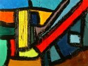 tableau abstrait acrylique sur toile art abstrait peinture contemporai : La machine