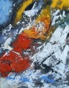 tableau abstrait acrylique sur toile art abstrait peinture contemporai : Désillusion