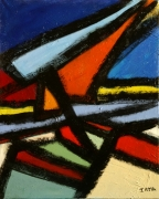 tableau abstrait peinture contemporai art abstrait acrylique sur toile : Éclats