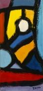tableau abstrait peinture contemporai art abstrait acrylique sur toile : Sur l'édredon
