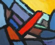 tableau abstrait peinture contemporai art abstrait acrylique sur toile : Les blocs