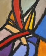 tableau abstrait acrylique sur toile art abstrait peinture contemporai : Sur la route de la Bérarde