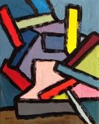 tableau abstrait acrylique sur toile art abstrait peinture contemporai : Tricastin