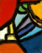 tableau abstrait acrylique sur toile art abstrait peinture contemporai : Chapiteau