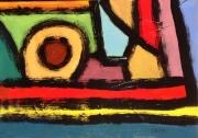 tableau abstrait peinture contemporai art abstrait acrylique sur toile : À la campagne