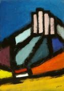 tableau abstrait peinture contemporai art abstrait acrylique sur toile : Les Trois Pucelles