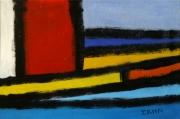 tableau abstrait acrylique sur toile art abstrait peinture contemporai : Derrière la porte