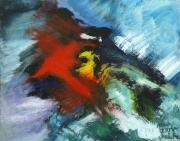 tableau abstrait peinture contemporai art abstrait acrylique sur toile : Avis de grand frais