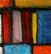 tableau abstrait peinture contemporai art abstrait acrylique sur toile : Vu du ciel