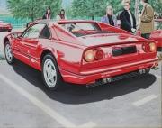 tableau sport voiture rouge ferrari bolide : FERRARI 328 GTS