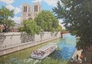 tableau architecture paris monument notre dame ete : NOTRE DAME DE PARIS