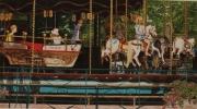 tableau scene de genre manegea annecy parc enfants : manège à Annecy