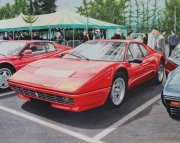tableau scene de genre voiture ferrari rouge exposition : FERRARI