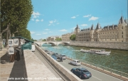 tableau paysages paris pont seine : PARIS pont Saint Michel