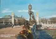 tableau architecture paris pont alexandre seine : PARIS Pont Alexandre