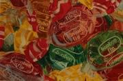 tableau nature morte bonbons gourmandise sucre friandise : bonbons fins