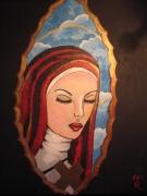 tableau personnages sainte dieu croix paradis : veronica