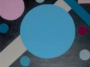 tableau abstrait rond trait moderne graffique : galaxie