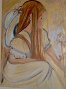 tableau personnages elfe fillette fleur romantique : elfy